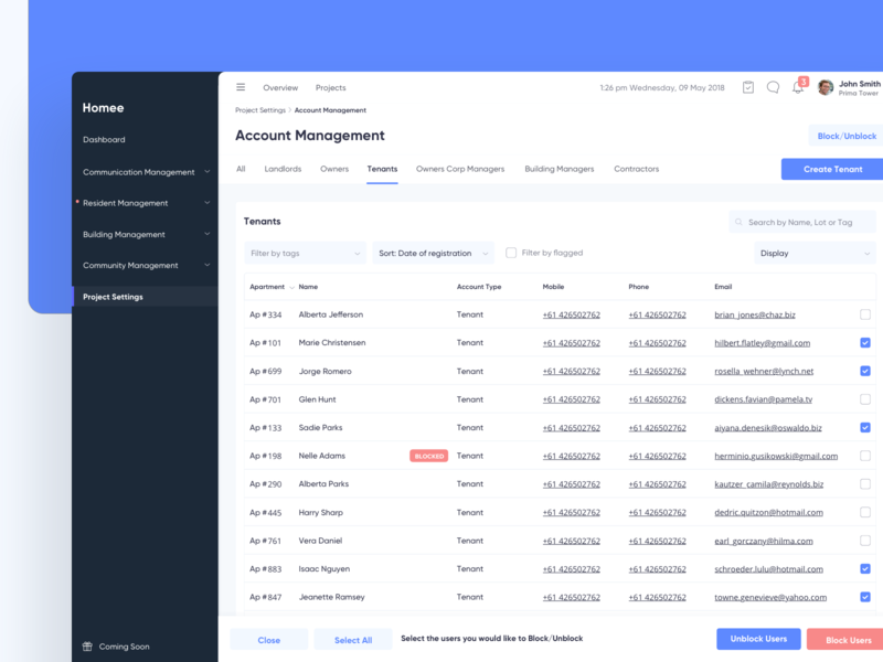 Property Management   Accounts management account property web app dashboard admin dashboard website minimal modern ux ui clean admin