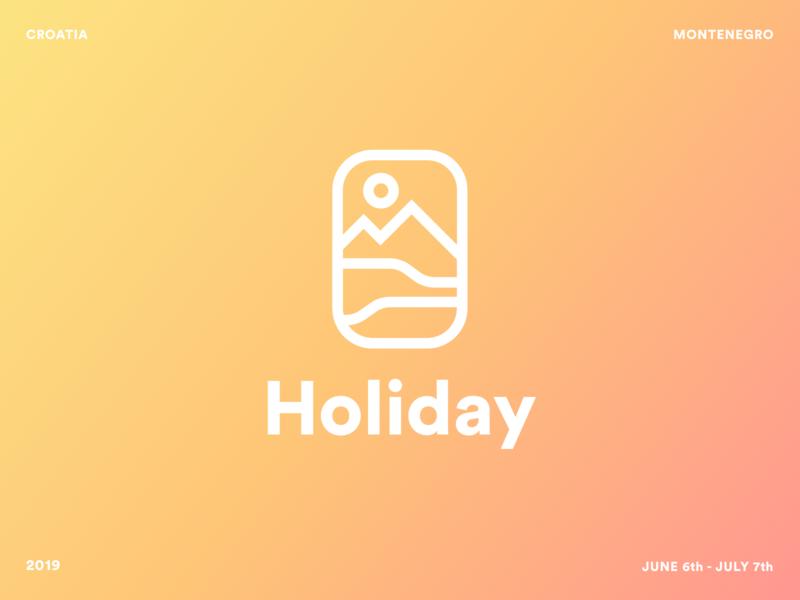 Holiday vibrant bold logo croatia holiday sun sunny bright fun minimal modern clean