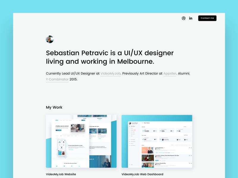 New Personal Website simple portfolio landing page clean modern website minimal ux ui