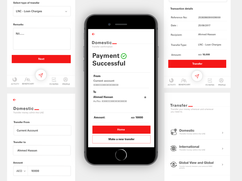 FX_APP cleanui ux payment bank app minimal