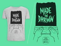T-shirt Screen-printed Darwin