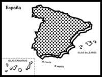 Map Of Spain (Postcard)