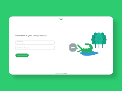 alligator account form login page