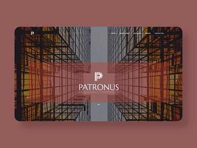 Patronus brand identity landing page web website design brand design