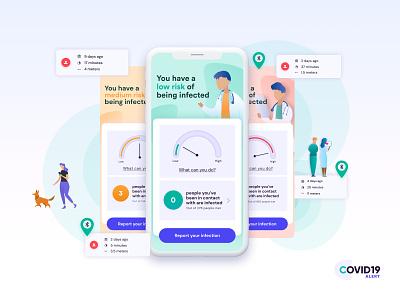 COVID-19 App mockup