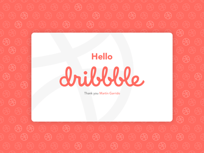 Hi Dribbble! invite dribbble hello dribbble