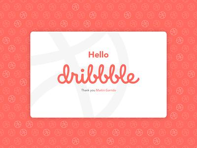 Hi Dribbble! invite dribbble hello dribbble