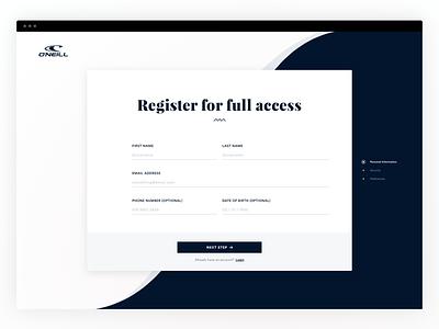 Daily UI #001 - Sign Up sign up daily ui register web design ux ui