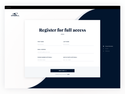 Daily UI #001 - Sign Up sign up daily ui register web design ux ui