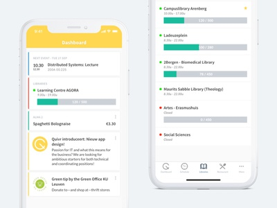 Quivr Mobile App mobile app ux ui iphonex light dashboard app mobile quivr