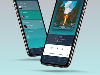 Artcore - Multiroom Audio multiroom player music audio multiroom audio design mobile app mobile app ux ui
