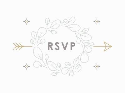 RSVP leaves rsvp wreath arrow monoweight invite