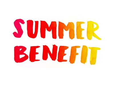 Summer! summer gradient hand letter community brush letter