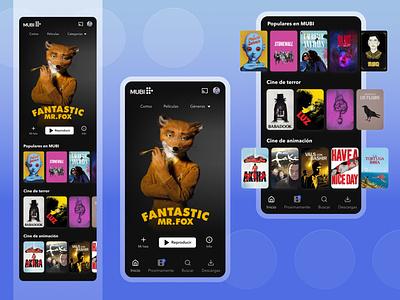Streaming app design interface netflix animations gradients trendy animation terror mubi movie adobe xd product design 2021 design beginner mobile app ux ui figma daily ui