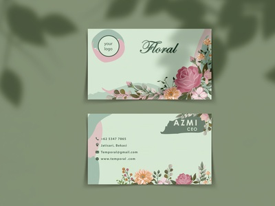 Floral Nature - Business Card flowerdesign nature leaves business card