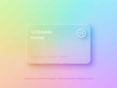 Dribbble Invitation icon ux ui design typography covid19 clean invitation minimal neumorphic card flat