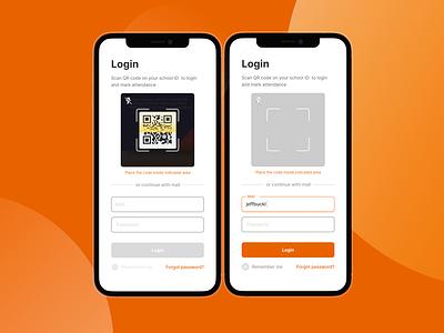 Class login with School ID design web app flat ux ui scan signin login qrcode qr school class online onlineclass