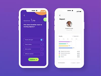 Quiz & Report Screens 2019 report quiz clean minimal web app flat ux ui