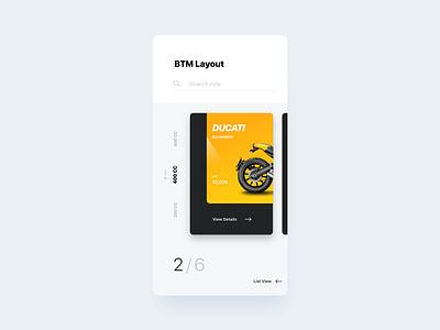 Rental App clean android ui ux typography type minimal app web design