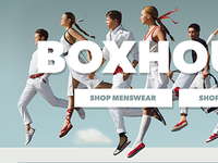Fashion store homepage banner