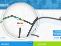 Interactive race route