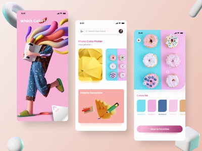 Colour Picker App Concept product colour picker colour palette ios app dribbble best shot colours color clean behancereviews 3d illustration 3d ui minimal app design dribbble colors behance
