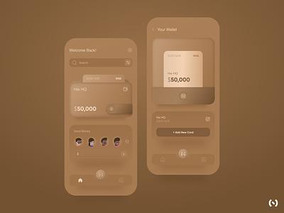 Wallet App Concept mobile design mobile app design mobile app neobanking app 3d look 3d neomorphism wallet app wallet fintech app fintech finance financial app app ux ui design minimal dribbble colors