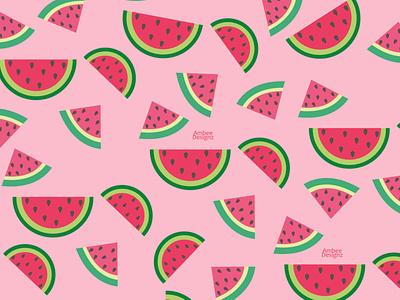 Watermelon graphic design minimal illustration design