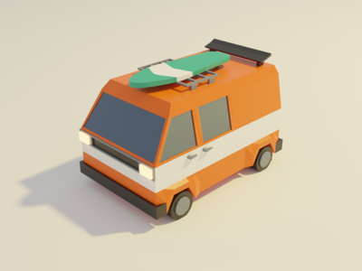 Low Poly Van
