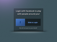 Facebook Slide to Login