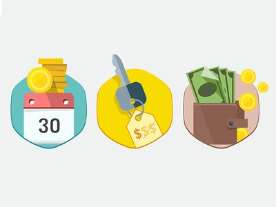 Flat retailer icons