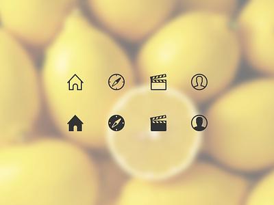 Tab Bar Icons ios ios7 icon icons explore studio profile house compass ui tab bar line icons