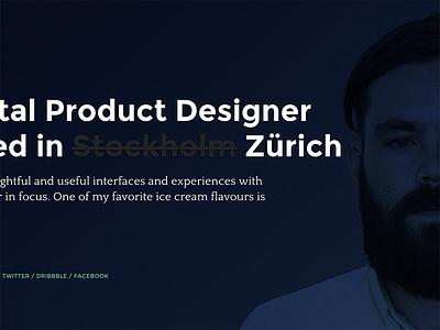 Zürich! quattrocento montserrat semplice zurich personal portfolio