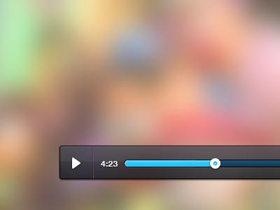 Media Player ui media player video flash blur button blue gray white photoshop