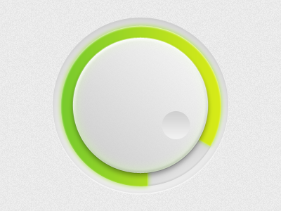 Control Wheel ui ux control wheel volume green white gray knob progress