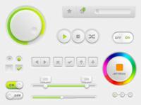 Lime/White UI