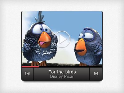 Video Thumbnail video media player thumbnail disney pixar youtube ui preview