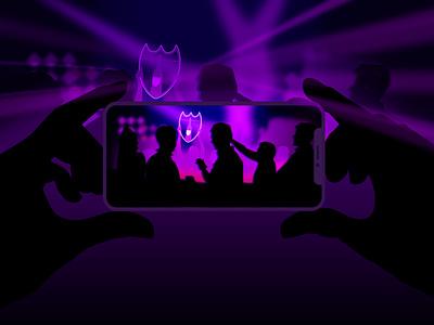 Show service Awards lasers lights lightning vip party nightlife digital art ibiza champagne luxury brand vector illustration web