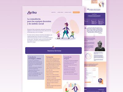 Ariku - Consultoría Educacional logo landing page design vector design ui illustration web