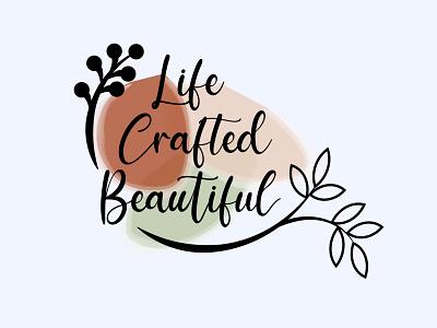 Life Crafted Beautiful website vector ui ux web branding illustrator graphic design design logo