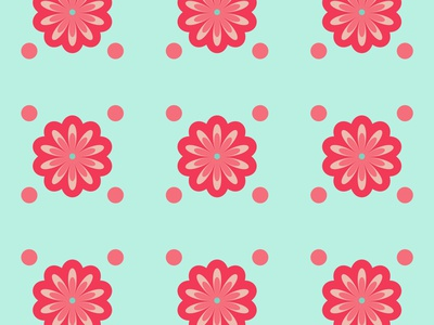Lovely Flower Pattern flat ui minimal vector web illustration branding illustrator graphic design pattern design