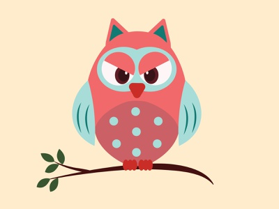 Grumpy Owl app brand design minimal graphic design logo vector illustration illustrator design branding