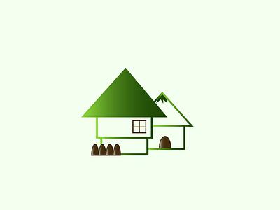 the two houses art motion graphics animation 3d ui ux vector illustration web logo illustrator design graphic design branding