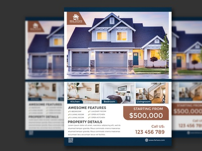 Real Estate Flyer adobe illustrator adobe photoshop design graphic design flyer flyer design real estate flyer real estate flyer design