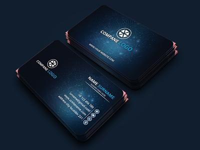 Corporate Modern Business Card Design creative business card corporate photoshop psd design professional business card namecard clean business card technology business card modern business card business