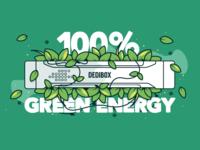 Dedibox 100% green energy