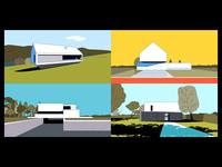 A Tribute to Architecture polish architecture house modernism landscape architecture design illustration