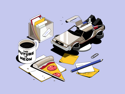 State of Design | Abstract state of design future designer design isometric illustration
