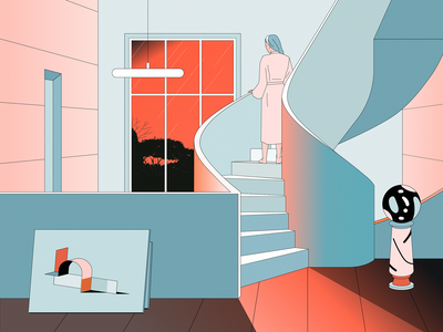 Apocalypse kobro art apocalypse interior stairs architecture design illustration