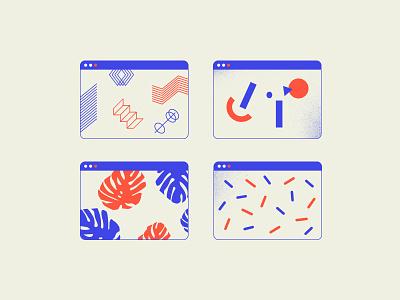 Tiny pattern thing vol. 2 icons leaves shapes flat design web illustration pattern